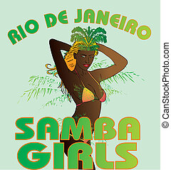 palm beach samba girls vector art