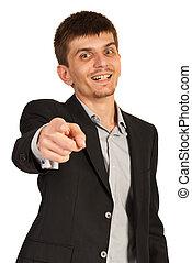 Executive chosen you - Executive man chosen you isolated on...