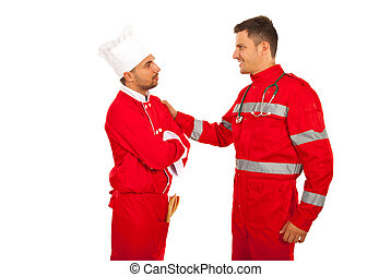 First meeting of paramedic and chef
