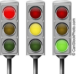 Vector image traffic light