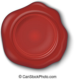 Wax seal on a white background