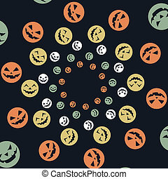 colorful halloween design