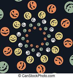 colorful halloween design