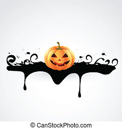 creepy halloween design - halloween pumpkin creepy design...