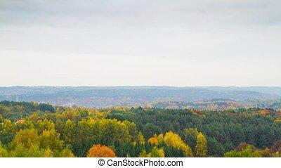 autumn landscape, timelapse