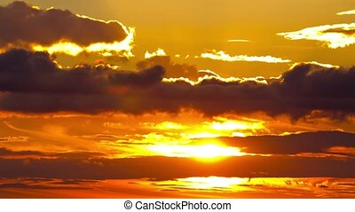 sunrise sky, sun, timelapse