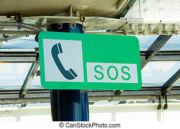 SOS sign - SOS sign was mounted on a pole