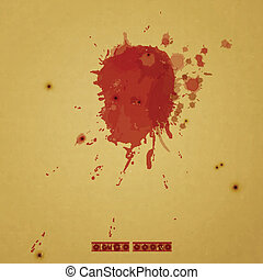 crime scene - new conceptual background with blood drops and...