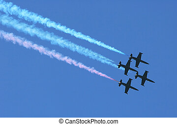 Airshow. - SAN FRANCISCO, CA - OCTOBER 6: US Patriots Jet...