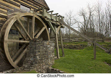 Grist Mill - Water wheel on a grist mill.
