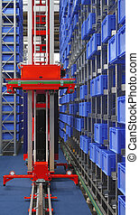 Automated storage robot - Automated storage warehouse with...