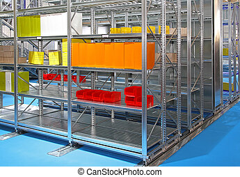 Shelving system - Metal shelving system in distribution...
