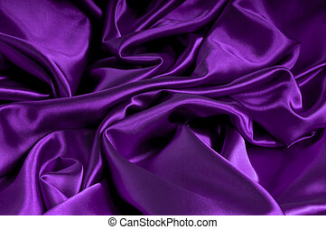 Satin In Purple Series - closeup view of purple satin...