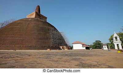 Sri Lanka - ancient Buddhist dagoba - Landmark of Sri Lanka...
