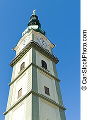 klagenfurt cathedral - tower of the cathedral in klagenfurt,...