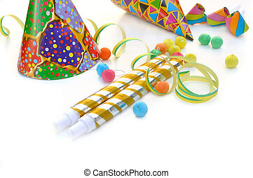 party favors - different party favors on white background