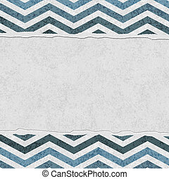 Blue Chevron Torn Background for your message or invitation...