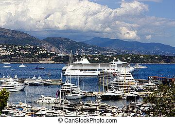Monaco Montecarlo marina harbor - Monaco Montecarlo...