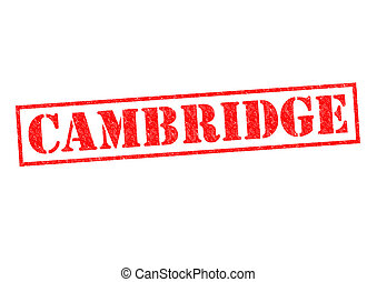 CAMBRIDGE Rubber Stamp over a white background.