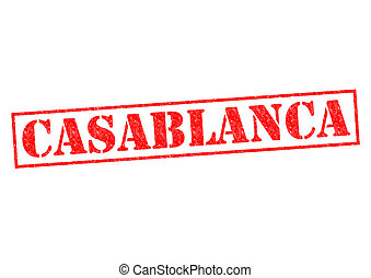 CASABLANCA Rubber Stamp over a white background.