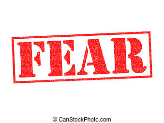 FEAR Rubber Stamp over a white background