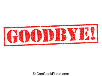 GOODBYE! Rubber Stamp over a white background.