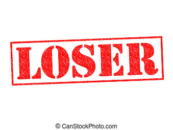 LOSER Rubber Stamp over a white background.