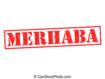 MERHABA Rubber Stamp over a white background.
