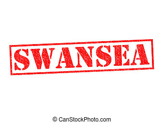 SWANSEA Rubber Stamp over a white background.