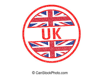 UK Rubber Stamp over a white background.