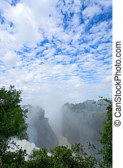 Victoria waterfall, Zimbabwe - View of the Victoria...
