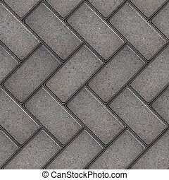 Paving Slabs. Seamless Tileable Texture. - Gray Rectangular...