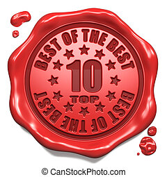 Top 10 in Charts - Stamp on Red Wax Seal.