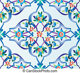 ottoman tile - an episode of a traditional Ottoman tile...