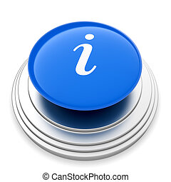 informazioni, bottone, segno