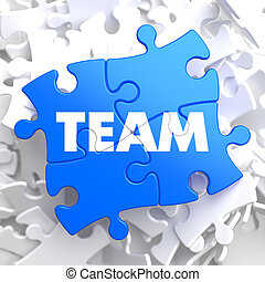Team.  Puzzle Business Concept.