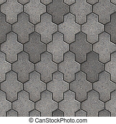 Paving Slabs Seamless Tileable Texture - Gray Paving Slabs...