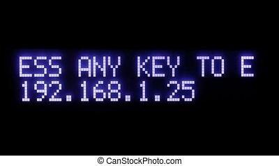 Press any key to enter main menu