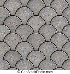 Paving Slabs. Seamless Tileable Texture. - Gray Paving Slabs...