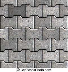 Paving Slabs Seamless Tileable Texture - Gray Figured Paving...