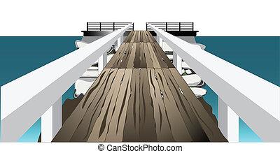 Footbridge - A footbridge or landing crossing to a stone...