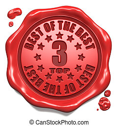 Top 3 in Charts - Stamp on Red Wax Seal.