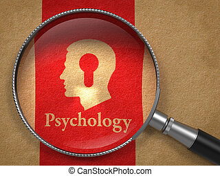 Psychology Concept - Psychology Concept: Magnifying Glass...