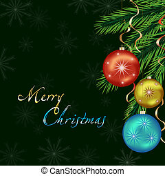 New Year and Christmas card, bright celebratory background -...