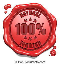 Natural - Stamp on Red Wax Seal. - Natural - Stamp on Red...