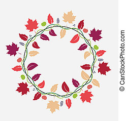 fall leaves background - vector illustration of fall leaves...