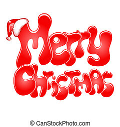 Merry Christmas text isolated on white