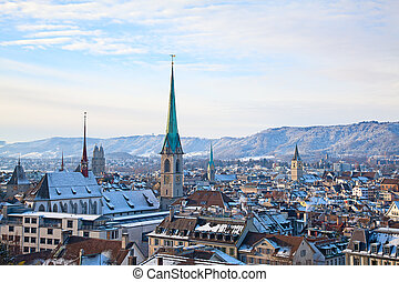 Zurich - historical city and financial capital of...
