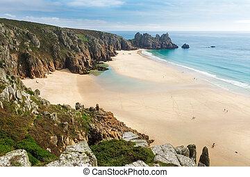 Pedn Vounder Beach Cornwall England - Photo of Pedn Vounder...
