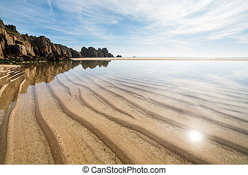 Pedn Vounder Beach Cornwall England - Photo of Pedn Vounder...